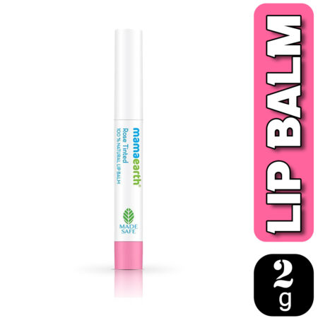 Mamaearth Rose Tinted 100% Natural Lip Balm With Rose Oil and Castor Oil, 2g