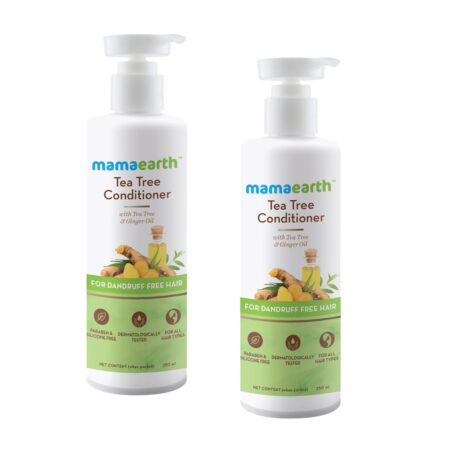 Mamaearth Tea Tree Conditioner with Tea Tree and Ginger Oil for Dandruff Free Hair, (250ml) Pack of