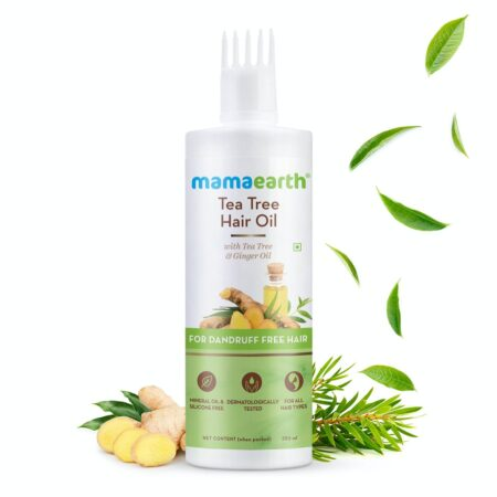 Mamaearth Tea Tree Hair Oil with Tea Tree and Ginger Oil for Dandruff Free Hair, 250ml
