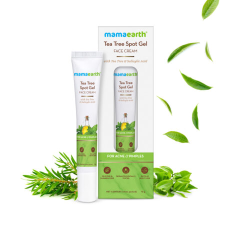 Mamaearth Tea Tree Spot Gel Face Cream with Tea Tree and Salicylic Acid For Acne and Pimples, 15g