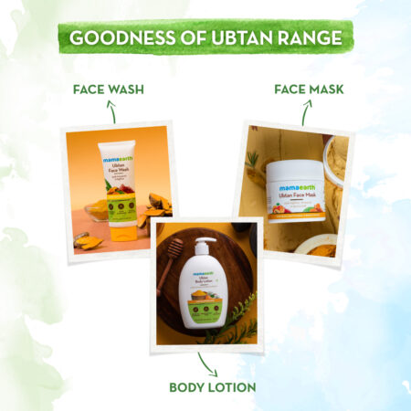 Mamaearth Ubtan Face Mask with Saffron and Turmeric for Skin Brightening and Tan Removal, 100g