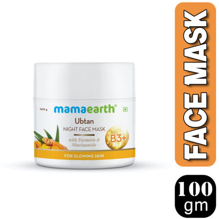 Mamaearth Ubtan Night Face Mask with Turmeric and Niacinamide for Glowing Skin, 100g (Pack of 2)