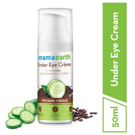 Mamaearth Under Eye Cream with Cucumber and Caffeine for Dark Circle, 50ml (Pack of 2)