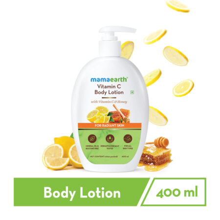 Mamaearth Vitamin C Body Lotion with Vitamin C and Honey for Radiant Skin, 400ml
