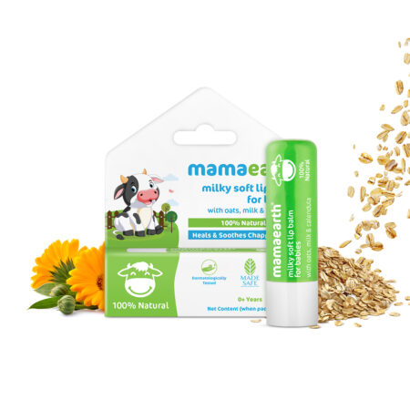 Milky Soft Natural Lip Balm for Babies with Oats, Milk & Calendula – 4g
