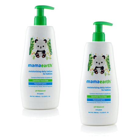 Mamaearth Moisturizing Daily Lotion For Babies, 400ml (Pack of 2)