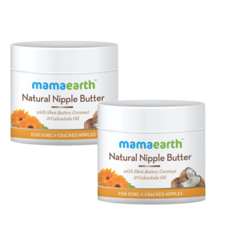 Mamaearth Nipple Butter Cream for sore and cracked nipples, 50ml (Pack of 2)