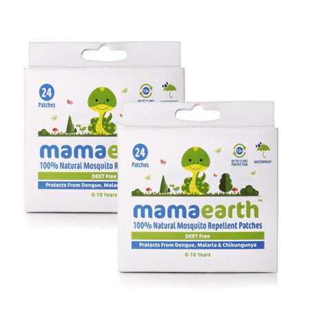 Mamaearth Natural Mosquito Repellent Patches, 24pcs (Pack of 2)