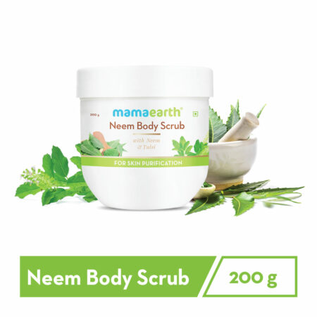 Mamaearth Neem Body Scrub with Neem and Tulsi for Skin Purification, 200g