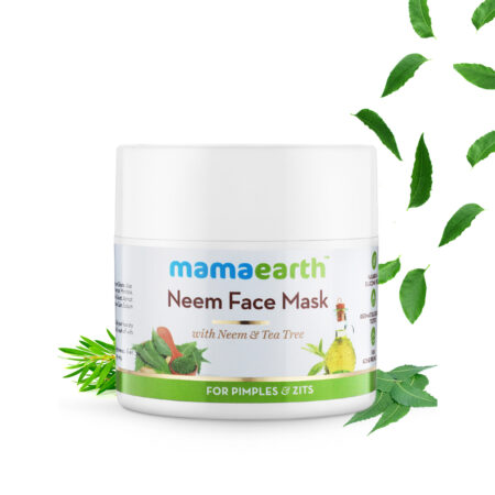 Neem Face Mask with Neem and Tea Tree for Pimples and Zits, 100 ml