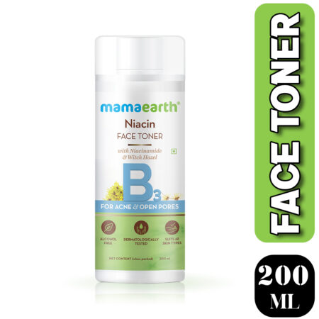 Mamaearth Niacin Face Toner with Niacinamide and Witch Hazel for Acne and Open Pores, 200ml