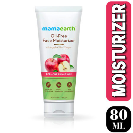 Mamaearth Oil-Free Face Moisturizer for Acne-Prone Skin, 80ml (Pack of 2)