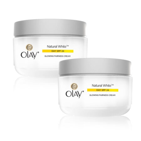 Olay Natural White 7 IN ONE Glowing Fairness Cream SPF 24, (50g) Pack of 2