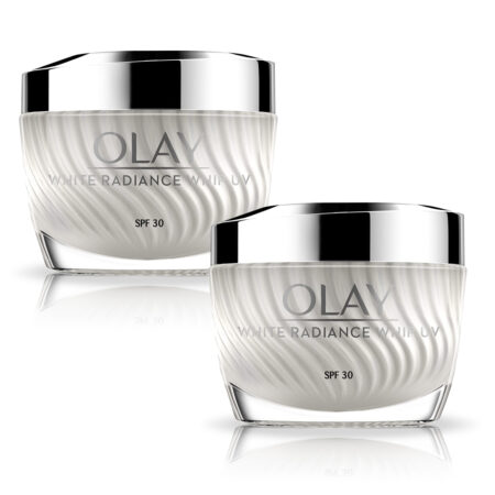 Olay White Radiance Whips UV Light AS Air Touch Active Moisturiser With SPF 30, 50g (Pack of 2)