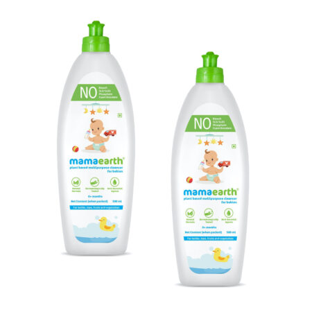 Mamaearth Plant-Based Multipurpose Cleanser for Babies, 500ml (Pack of 2)