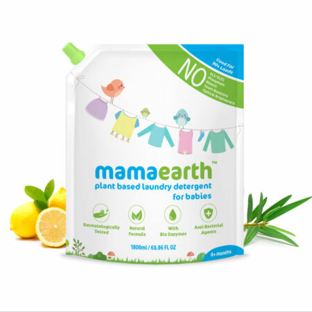 Mamaearth Plant based laundry detergent, 1.8L (Saver Pack, get 60% extra)
