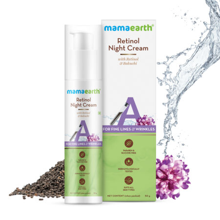 Retinol Night Cream For Women with Retinol and Bakuchi for Anti Aging, Fine Lines and Wrinkles - 50 g