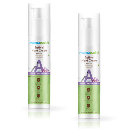 Retinol Night Cream For Women with Retinol and Bakuchi for Anti Aging, Fine Lines and Wrinkles - 50 g (Pack of 2)