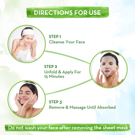 Rice Water Bamboo Sheet Mask with Rice Water and Coconut Milk for Deep Hydration - 25 g