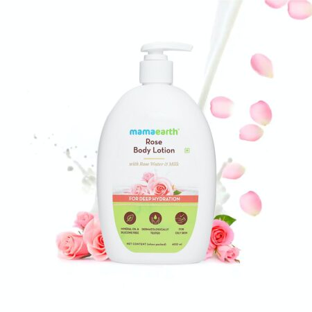 Mamaearth Rose Body Lotion with Rose Water and Milk For Deep Hydration, 400ml