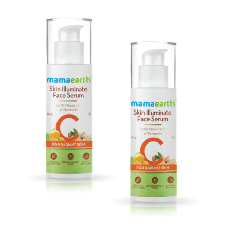 Mamaearth Skin Illuminate Face Serum for Radiant Skin with Vitamin C and Turmeric, 30g (Pack of 2)