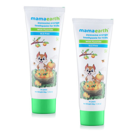 Sulfate Free Awesome Orange Toothpaste For Kids With Fluoride 50gm