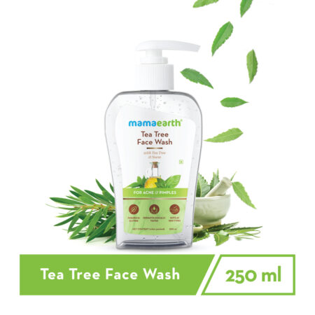 Mamaearth Tea Tree Face Wash with Neem for Acne and Pimples, 250ml (Pack of 2)