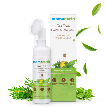 Mamaearth Tea Tree Foaming Face Wash with Tea Tree and Salicylic Acid for Acne and Pimples, 150ml
