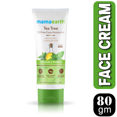 Mamaearth Tea Tree Oil-Free Face Moisturizer with Tea Tree and Salicylic Acid for Acne and Pimples,