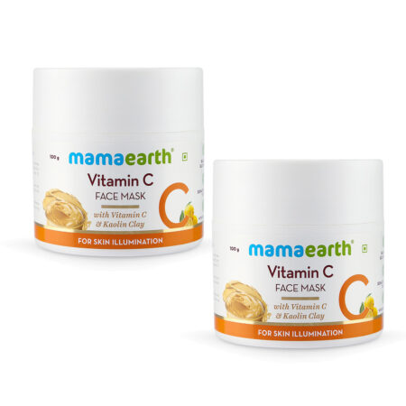 Mamaearth Vitamin C Face Mask With Vitamin C and Kaolin Clay for Skin Illumination, 100g (Pack of 2)