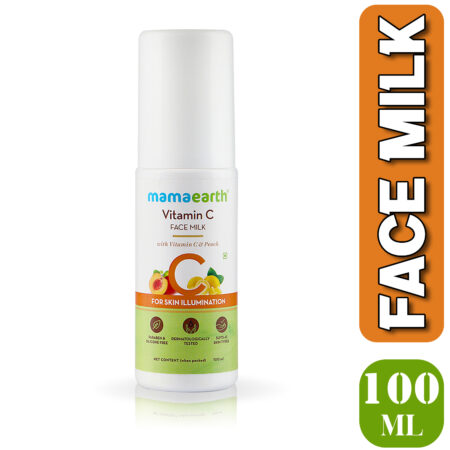 Mamaearth Vitamin C Face Milk with Vitamin C and Peach for Skin Illumination, 100ml (Pack of 2)