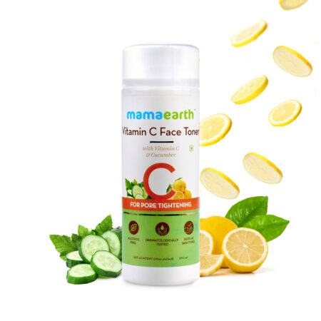 Mamaearth Vitamin C Face Toner with Vitamin C and Cucumber for Pore Tightening, 200ml