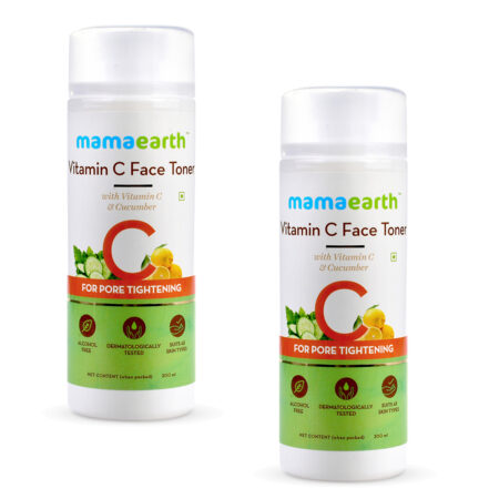 Vitamin C Face Toner with Vitamin C and Cucumber for Pore Tightening 200ml (Pack of 2)