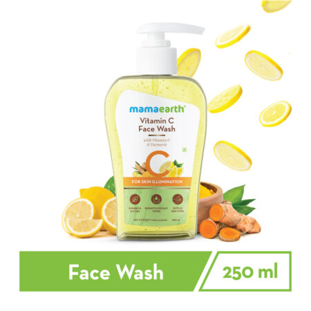 Mamaearth Vitamin C Face Wash with Vitamin C and Turmeric for Skin Illumination, 250ml (Pack of 2)