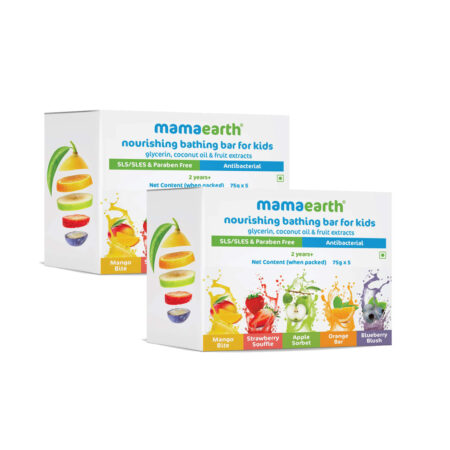 Mamaearth Nourishing Bathing Bar Soap For Kids, ( Pack of 5, 75g Each) Pack of 2